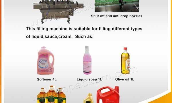 آلة تعبئة زيت الطهي الأوتوماتيكية 2 ، 4 ، 6 ، 10 ، 12 رأس