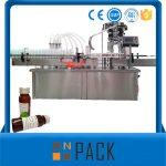 التلقائي الروتاري زجاجة السائل ملء آلة مع السد